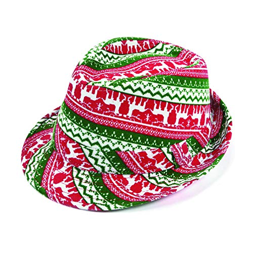 Ugly Sweater Party Fedora Hat - Funny Holiday Party Accessories
