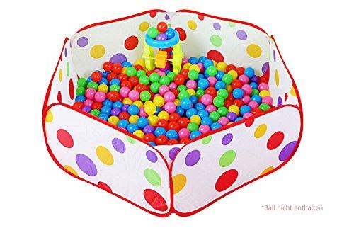 Demarkt Tienda de campaña para niños, piscina de bolas, piscina de pelotas, piscina Pop up, pelota no incluida (135 x 70 x 45 cm)