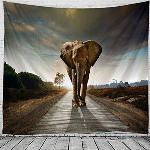 Obrand Tapiz Adornos de Arte para Pared de Hogar,Tapices de Elefante Africano con Tema de Mandala Bohemio Bohemio Indio para Dormitorio, Sala de Estar, Dormitorio, decoración del hogar