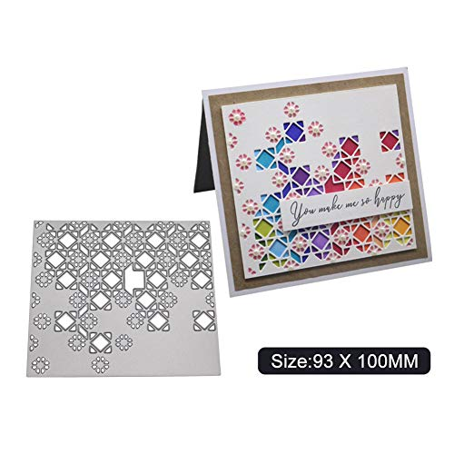 YQCZ Molde de Corte Copo de Nieve Diamante Scrapbook Troqueles de Corte...