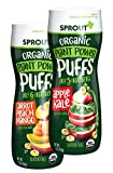Sprout Organic Baby Food Baby Snacks Plant Power Puffs, Carrot Mango and Apple Kale Variety Pack, 1.5 Ounce Canister (Pack of 6)