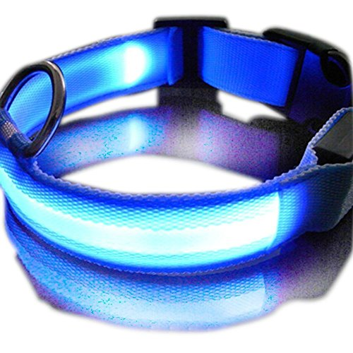 ASX Design New Super Bright Nylon LED Dog Night Safety Collar Flashing...