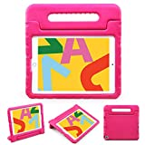 NEWSTYLE Kids Case for iPad 7th Generation Case for Kids iPad 10.2 Case for Kids Shockproof iPad Stand for Kids with Light Weight Handle for Apple iPad 10.2' 2019 Latest Model and Air 3 (Rose)
