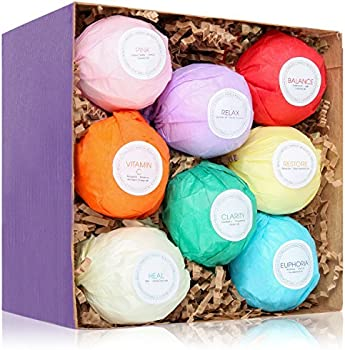 8-Count HanZa Ultra Comforting Spa Fizzies Bath Bombs Gift Set