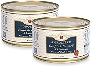 Lot promotionnel de 2 boîtes de Confits de Canards 4 cuisses, recette artisanale du Périgord, sans colorants ni conservateurs