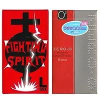 リンクルゼロゼロ 1000 8個入 + FIGHTING SPIRIT (ファイティングスピリット) コンドーム Lサイズ 12個入