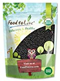 Organic Black Lentils, 1 Pound - Non-GMO, Whole Dry Pulses, Raw, Sproutable, Kosher, Vegan, Bulk Legumes, Black Masoor Daal, Great for Stews, Curries, Tacos, & Soups