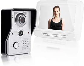 Buzzer Video Intercom Color Color 7 اینچ با دید در شب ، ضد آب ، تماس ، رابط ، باز کردن قفل ، نظارت ، عملکرد داخلی داخلی (پلاگین ایالات متحده)