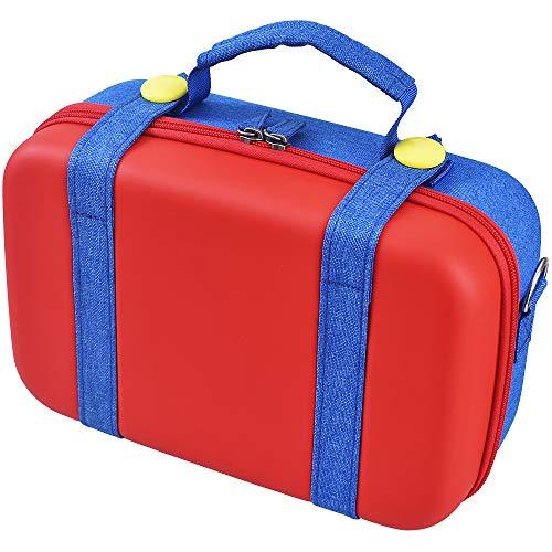 Ravol Funda de transporte para Nintendo Switch, bolsa de almacenamiento portátil para Nintendo Switch, color azul y rojo