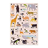 Spreadshirt ABC Poster Tiere Einschulung Poster 40x60 cm,