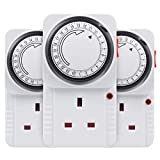 HBN 24 Hour Plug-in Energy Saving Programmable Daily Indoor Mechanical Segement Timer Plug