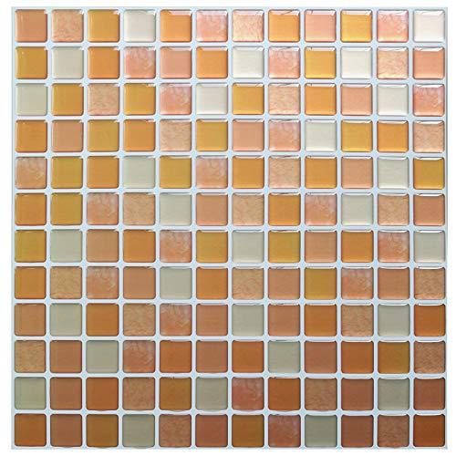 MENGGOO Auto Adhesivo Mosaico Tile Backsplash Pegatina De Pared Vinilo Baño Cocina Decoración para El Hogar (Color : YJC0015)