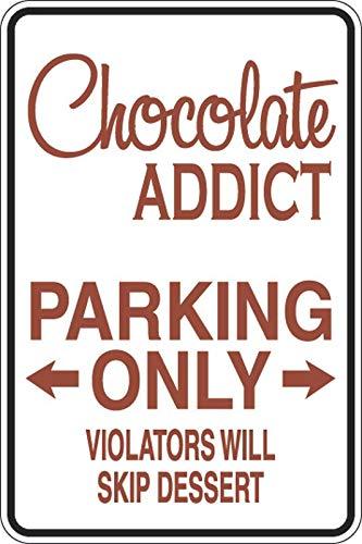 PotteLove Chocolade Verslaving Parkeerplaats Alleen Decal Vinyl Sticker Decoratief voor Laptop Koelkast Gitaar Auto Motorhelm Bagage Cases Decor 10 Inch in Breedte