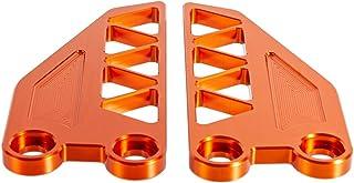 Dekorative Motorrad Fußrastenplatte für Duke 250/390 2017 2019 CNC Aluminium Zubehör (Orange)