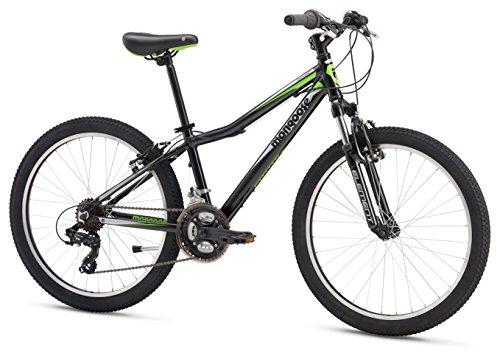 Mongoose Boys Rockadile 24' Wheel Mountain Bike, Black, One Size