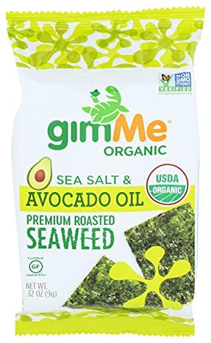 Gimme, Organic Sea Salt & Avocado Oil Premium Roasted Seaweed, 0.32 Ounce