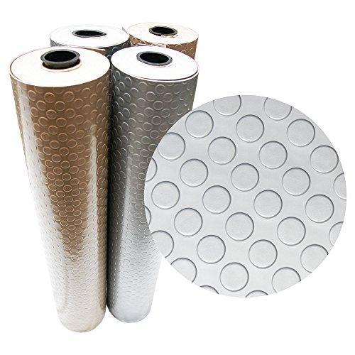 Rubber-Cal Coin Grip Metallic PVC Flooring, Beige, 2.5mm x 4' x 6'