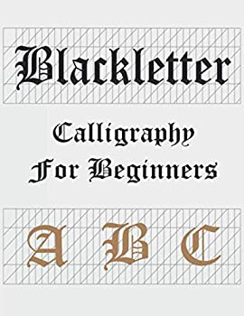 Blackletter calligraphy set for beginners a b c  Gothic handlettering workbooks caligraphy books for adults