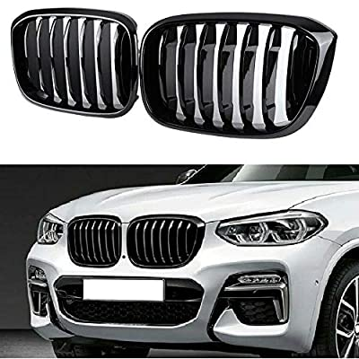 Glossy Black Performance Style Kidney Grille for 2018 2019 2020 BMW X3 X4 Front Hood Grill Insert Replacement G01 G02