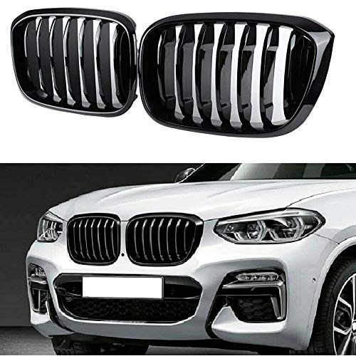 Glossy Black Performance Style Kidney Grille Compatible with BMW X3 X4 2018 2019 2020 2021 Front Hood Grill Insert Replacement G01 G02