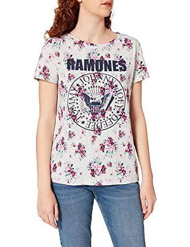 Springfield Camiseta Ramones, Gris Medio, S para Mujer