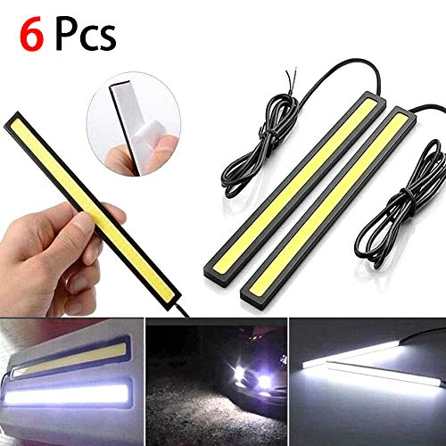 Veronivan 6 paquetes 12V impermeabilizan la luz blanca de la tira LED para el coche/la caravana que acampa/la decoración de la barra
