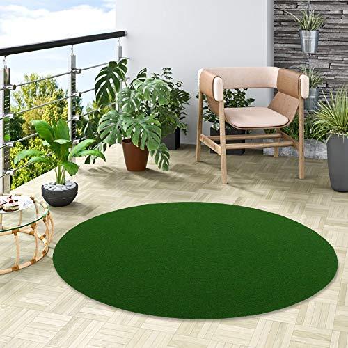 Snapstyle Kingston - Tappeto in Erba Artificiale - per Giardino, Terrazza, Balcone - Verde - Rotondo - 3 Dimensioni