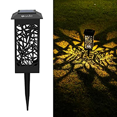 OxyLED Solar Path Lights, 8-Pack Solar Powered LED Garden Pathway Lights, Auto On/Off Led Decorative Landscape Lighting Driveway Security Light for Yard Garden Patio Lawn Backyard