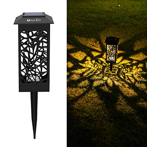 8 Pack Solar Lights Outdoor Garden,OxyLED Auto On/Off LED Decorative Landscape Lighting Solar Powered Driveway Stake Garden Lights for Yard Garden Patio Lawn Backyard