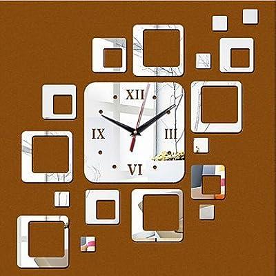 JFFFFWI Home Decor 3D Wall Clock DIY Mirror Decals Money,