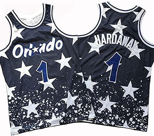 XSJY Jersey De Los Hombres De La NBA - Orlando Magic # 1 Penny Hadaway Edition Jersey, Unisex Retro Bordado Malla Jersey,A,XXL:185~190cm/95~110kg