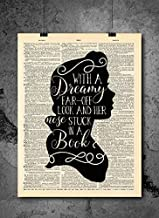 Beauty And The Beast - Dreamy - Vintage Art - Authentic Upcycled Dictionary Art Print - Home or Office Decor - Inspirational And Motivational Quote Art