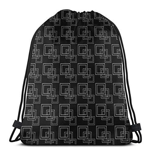 DHNKW Kasvot Vaxt Boxes Lightweight Drawstring Bag Sport Gym Sack Bag Backpack 17 X 14 inch