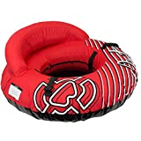 Winterial Inflatable Snow Sled Tube - Deluxe 50' Inflatable Snow Sled for Kids and Adults with Shoulder Strap and Padded Handles/Big Snow Tube Toys for Kids (Red)