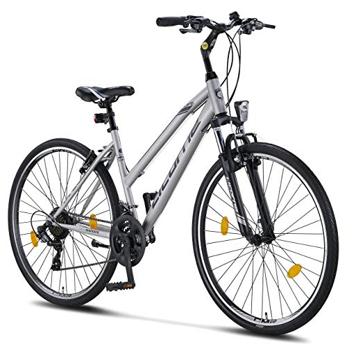 Licorne Bike Life-L-V, grigio/nero, 28 inches