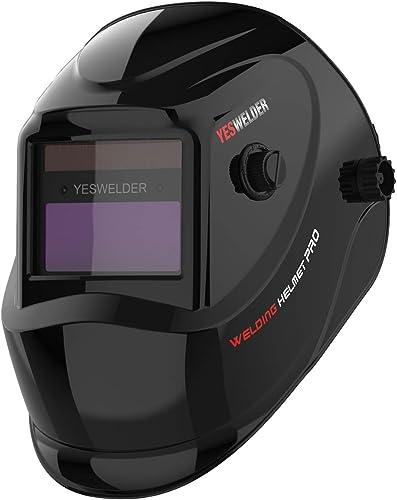 2021 YESWELDER online sale True Color Solar Powered new arrival Auto Darkening Welding Helmet, Wide Shade 4/9-13 for TIG MIG ARC Weld Hood Helmet online