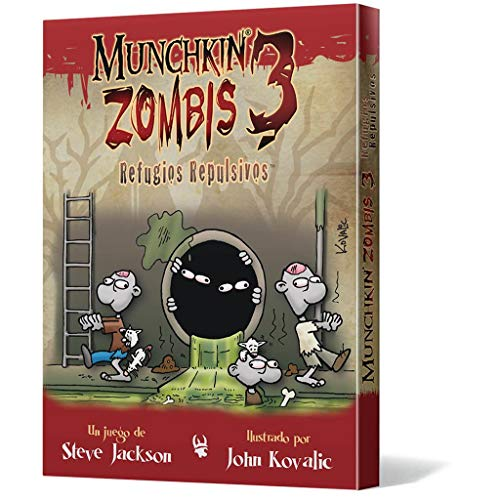 Edge Entertainment- Munchkin Zombis 3: Refugios Repulsivos (EESJMZ03)