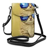 Cool Cat Small Crossbody Bolsas de teléfono celular monedero para las mujeres
