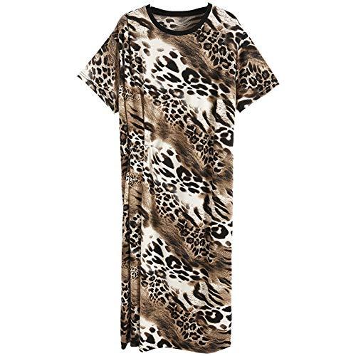BINGQZ Cocktailjurken Luipaard-print gebreide jurk vrouwelijke zomer dames mode elegante populaire lange rok vrouwen