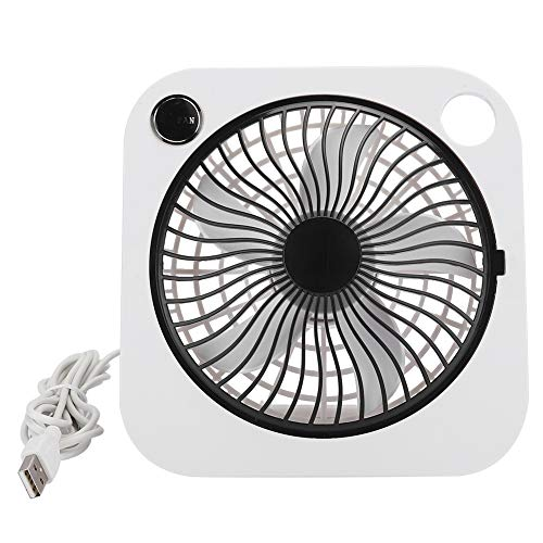 Goshyda Ventilador portátil, Ventilador de Escritorio Portátil Recargable Ajustable 2 velocidades de Viento Silencioso USB Mini Ventilador para circulación de Aire, Simulando Viento Natural