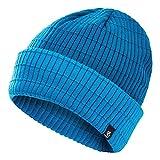 Dare 2b Men's Ontheball II Acrylic Knit Fleece Lining Exterior Rib Roll Cuff Beanie Headwear, PetrolBlue/Methyl, Sgl