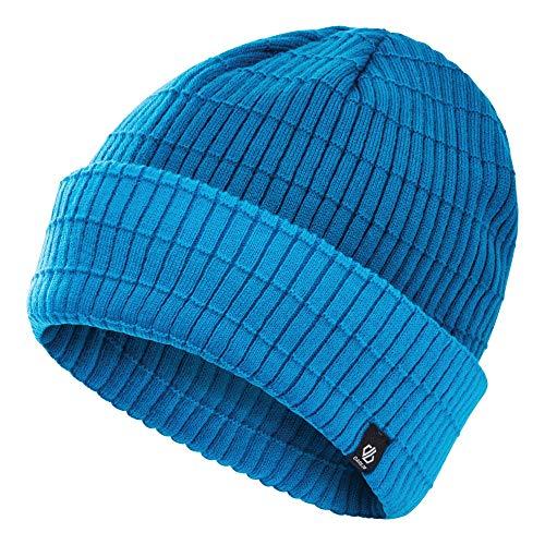 Dare 2b Ontheball Ii Herren Strickmütze aus Acryl-Strick-Fleece-Futter außen gerippte Manschette Beanie Kopfbedeckung Einheitsgröße Petrolblau/Methyl.