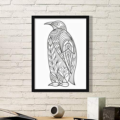 DIYthinker Grootste Vogel Verf Koude Eenvoudige Beeld Frame Kunst Prints Schilderijen Thuis Muursticker Gift