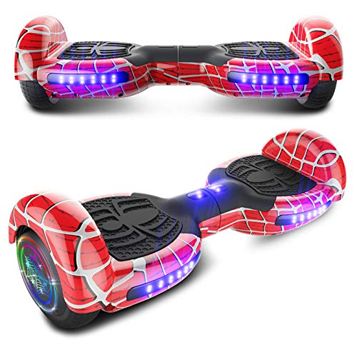 CHO Spider Wheels Series Hoverboard UL2272 Certified Hover Board Electric Scooter with Built in Speaker Smart Self Balancing Wheels (Spider Cherry)