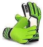 Blok-iT Soccer Goalkeeper Gloves. Soccer Goalie Gloves Youth & Soccer Goalie Gloves Adult Sizes (youth goalie gloves, kids goalie gloves, guantes de portero). Fingersave Goalie Gloves. (Green, Size 8)