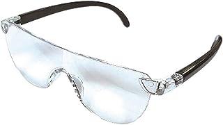ルーペ眼鏡 ルーペメガネ 拡大鏡 1.3倍 ブルーライトカット UVカット メガネ型ルーペ ポーチ付き 父の日 母の日 敬老の日にプレゼント