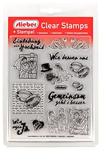 stieber Clear Stamps Transparente Stempel Sets (Bitte gewünschtes Motiv/Thema unten auswählen!) (Hochzeit - Wedding)