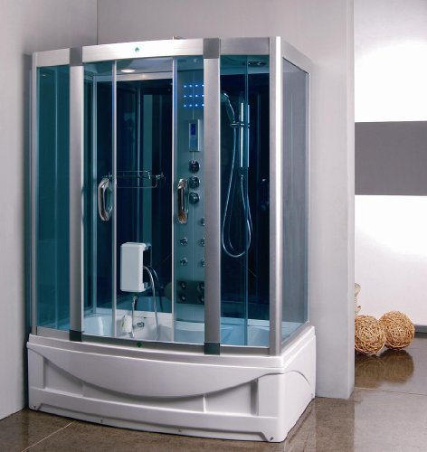 Steam Shower Room With deep Whirlpool Tub.Air Bubble,9004R Right side drain