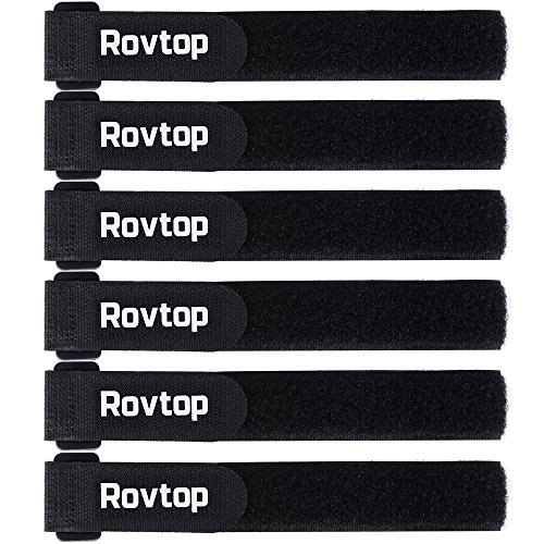 Rovtop 6 Pcs 16 Inch Adjustable Sizes Fastening Tape Reusable Multi Purpose Fastening Wrap for Securing Items at Home, Work and Outdoor …
