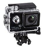 Netway Imago Plus - Cámara de 12 MP (4K, 1080 p, 720 p, WiFi,) Color Gris y Negro